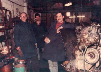 Foto storica della torneria meccanica Mic-Mec a Treviso anno 1980
