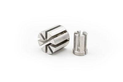 foto minuteria in alluminio mediante tornitura e fresatura